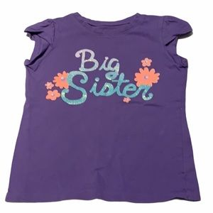 """Other - 🎃 """"Big sister"""" t-shirt. Size 5."""